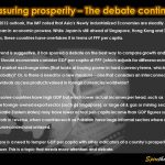 Measuring prosperity – The debate continues