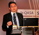 Spire speaks at the South East Asia Automotive Summit 2013 in Jakarta, Indonesia