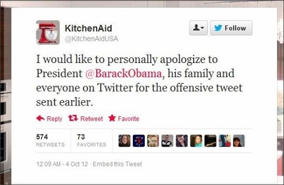 Social media fail - Kitchen Aid