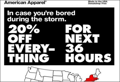 Social media fail - American Apparel