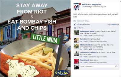 Social media fail - Fish & Co